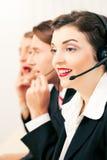 Call centreagenten Stock Foto's