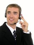 Call centreexploitant Stock Afbeeldingen