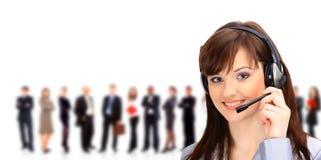 Call centreexploitant met hoofdtelefoon Royalty-vrije Stock Afbeeldingen