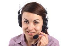 Call centremeisje Stock Foto's
