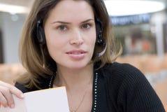 Call centresecretaresse royalty-vrije stock fotografie
