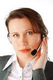Call centrestafmedewerker Stock Afbeelding