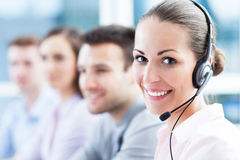 Call centreteam Stock Afbeeldingen
