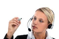 Call centrewerknemer royalty-vrije stock afbeeldingen
