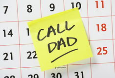 Call Dad Reminder Stock Photo