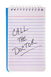 Call the doctor reminder Stock Photo