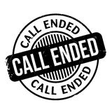 Call Ended rubber stamp Royalty Free Stock Photos