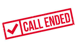 Call Ended rubber stamp Stock Photos