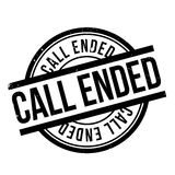 Call Ended rubber stamp Royalty Free Stock Photo