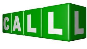 Call Green cubes Royalty Free Stock Photos