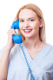 Call the hospital or clinic royalty free stock images