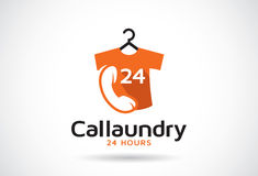 Call Laundry Logo Template Design Vector, Emblem, Design Concept, Creative Symbol, Icon vector illustration