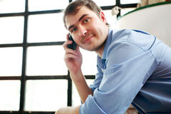Call Man Stock Images