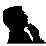 Call. A man get a call Royalty Free Stock Images