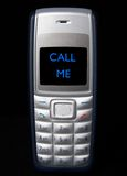 Call Me. Mobile phone showing Call Me Stock Images