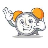 Call me alarm clock mascot cartoon Royalty Free Stock Images