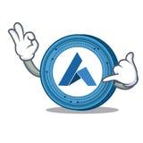 Call me Ardor coin mascot cartoon. Vector illustration Stock Photo