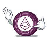 Call me Augur coin mascot cartoon. Vector illustration Stock Photography