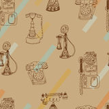 Call Me, Baby seamless  pattern. Royalty Free Stock Photo