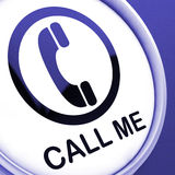 Call Me Button Shows Talk or Chat Royalty Free Stock Photo