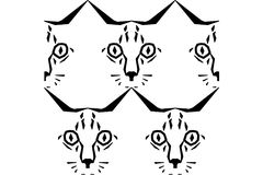 Call Me Cat Pattern Royalty Free Stock Photos