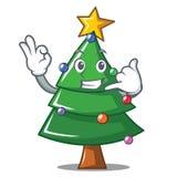 Call me Christmas tree character cartoon. Vector illustration Royalty Free Stock Image