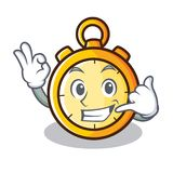 Call me chronometer character cartoon style Royalty Free Stock Photography