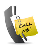 Call me concept illustration design Royalty Free Stock Photos
