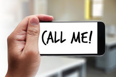 CALL ME Contact Us Customer Service Support Question please call Royalty Free Stock Image