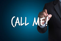 CALL ME Contact Us Customer Service Support Question please call Royalty Free Stock Images