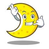 Call me crescent moon character cartoon Stock Photography