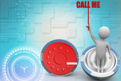 Call me , dial concept Illustration Stock Image