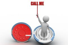 Call me , dial concept Stock Images