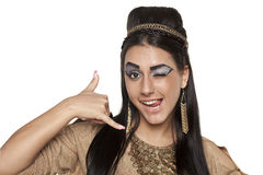 Call me -  Egyptian Queen Cleopatra Royalty Free Stock Image