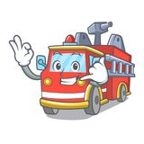 Call me fire truck mascot cartoon. Vector illustration Royalty Free Stock Image