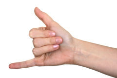 CALL ME hand sign Royalty Free Stock Photo