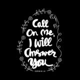 Call on me, I will answer you. Stock Images