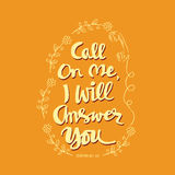 Call on me, I will answer you. Royalty Free Stock Image