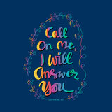 Call on me, I will answer you. Royalty Free Stock Images