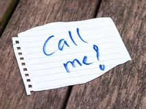 Call me!. Call me message or notice Royalty Free Stock Photos