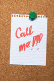 Call me note Stock Images