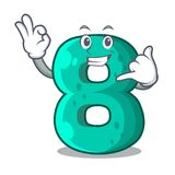 Call me number eight volume logo the mascot. Vector illustration stock illustration