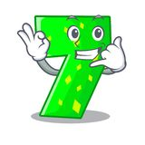 Call me number seven isolated on the mascot vector illustration