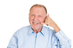 Call me, older person Royalty Free Stock Images