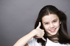 Call me a pretty little girl Royalty Free Stock Photo