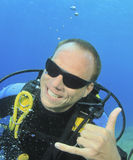 Call me (Scuba Diver version) Royalty Free Stock Photography