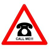 Call me sign. A computer generated image Royalty Free Stock Photos