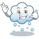 Call me snow cloud character cartoon Stock Photos