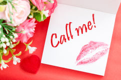 Call message. Royalty Free Stock Photos