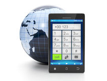 Call from a mobile phone. At any place in the world for free Royalty Free Stock Photo